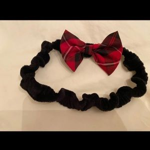 Cute Little Headband with a Plaid Bow